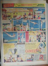 Camel Cigarette Ad: Goergia Coleman Diving Champion ! Full Page Size! from 1934