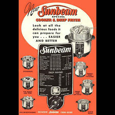VINTAGE 1952 SUNBEAM DEEP FRYER & COOKER COOKING GUIDE MANUAL - PDF DOWNLOAD