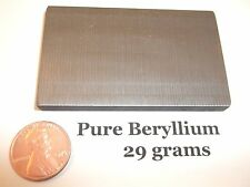 BERYLLIUM: 29 GRAMS PURE 99.9% | ELEMENT SAMPLE .999 X-RAY BAR | RARE METALS USA