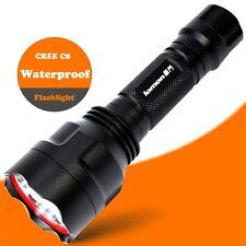 240LM Waterproof CREE C8 LED Bulbs 18650 Battery Super Bright Flashlight