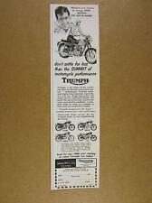 1962 Triumph T120/R TR6S/R T100S/C & T-20 Motorcycles vintage print Ad