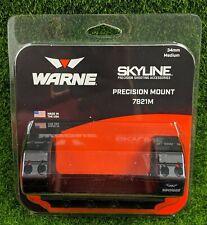Warne Skyline, 34mm Medium Precision Mount, Ring/Base Combo Pack, Black - 7821M