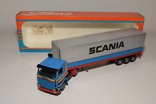 S TEKNO SCANIA 142H 142 H PROMO WERBE TRUCK WITH TRAILER NEAR MINT BOXED