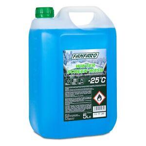 FANFARO Winter Screen Wash -25°C Winterscheibenreiniger Fertiggemisch, 5 Liter