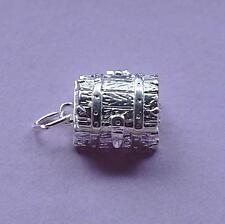 Treasure Chest OPENS Charm Pendant STERLING SILVER