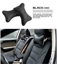 Black 2x Car Seat Neck Headrest Pillows Pad Foam Travel Head Rest Soft Cushion