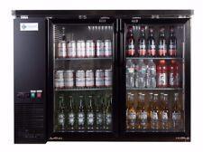 A.C.E. BackBar Bottle Cooler Double Glass Door Stainless-Steel Interior 12 Cu.Ft