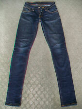 NUDIE 'TIGHT LONG JOHN' STRETCH JEANS WMN SIZE 7