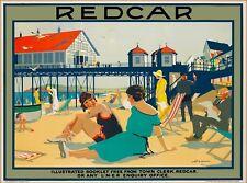 Redcar North Yorkshire Great Britain England Vintage Travel Art Poster Print