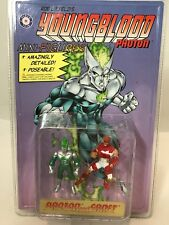 New Liefeld's Youngblood Photon & Shaft Mini Action Figures By Placo Toys 1995