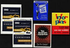 5 reklamemarken 1961 ausstellungen england, london, manchester, harrogate /0508