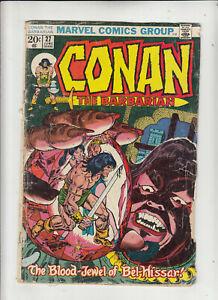 Conan the Barbarian #27 (Marvel 1973) Roy Thomas John Buscema G/VG