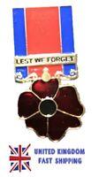 British Military Veteran Soldier Ribbon Hero Red Poppy Enamel Pin Badge Brooch