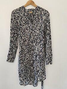 Jag Silk Long Sleeve Button Up Dress with belt. Size 12