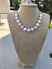 HDMD by Cyndi  Necklace Irregular Rough White Jasper Stone & Magnesite Spacers