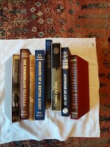 Folio society lot, 8 volumes,military/history theme, all vg ,slipcases