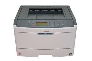 Lexmark Drucker E460DN Laserdrucker Duplex Lan komplett B-Ware #110