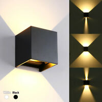 Modern LED Wall Light Waterproof Exterior Up Down Adjustable Cube Sconce Lamp