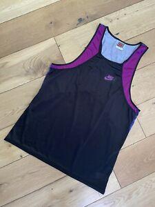 Vintage Nike 80's Running Vest Made In UK Size Men's Medium Gymwear