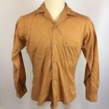 Vintage 1950's Loop Collar Gabardine Atomic Retro Mid Century Button Board Shirt