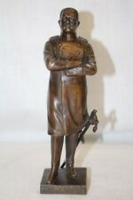 """WWI Paul Von Hindenburg Cast Bronze 8 1/2"""" Statue by Julius Schmidt-Felling"""