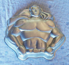 VTG SUPERMAN Cake Pan DC COMICS Batman Super Hero -  1977 WILTON Baking Mold