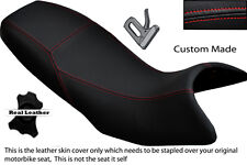 RED STITCH DESIGN CUSTOM FITS APRILIA PEGASO 650 97-03 DUAL LEATHER SEAT COVER