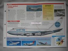 Aircraft of the World Card 83 , Group 2 - Boeing 747 SP