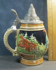 "Stein made for Germany in Poland Mikolow hand made barrell body 6.5"" á´· q2"