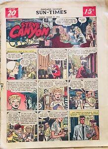 Steve Canyon Peanuts Phantom Little Orphan Annie HUGE lot of 80+ Sunday comics