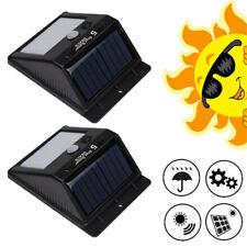2er Solarleuchte LED Solarlampe mit Bewegungsmelder Außen Fluter Sensor Strahler