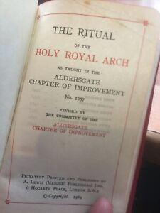 The Ritual of the HOLY ROYAL  ARCH #1657Aldersgate Chapter of Improvement 1969