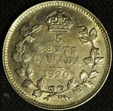 Canada 1920 5 Cent Piece - Buyers Grade -