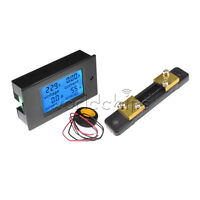 New 50A Digital LCD Volt Watt Current Power Meter Ammeter Voltmeter Meter+Shunt