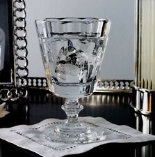 FOUR  Ralph Lauren CELESTE WINE  GOBLETS  Crystal NWT~ MSRP $460~signed glass