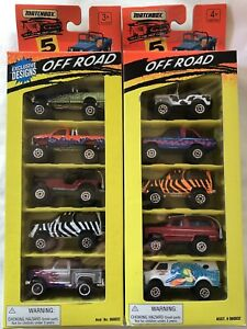 Matchbox - TWO 5-Pack OFF ROAD Sets from 1994/95. MIB