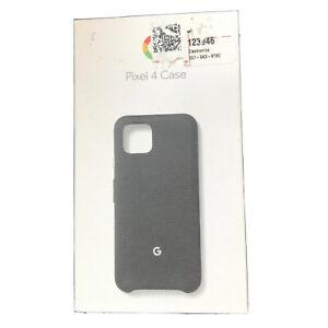 Official Google Fabric Case for Google Pixel 4 Smartphones - Just Black - NEW
