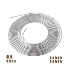Universal Iron Galvanized Brake Line Tubing 3/16 25 Foot Coil Roll Size Fittings