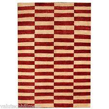 Ornate Carpets Gabbeh Handmade Red/Beige Area Rug,  134cm x 188cm