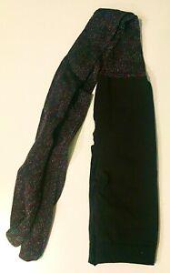 NEW: Spanx black rainbow glitter full length tights, reinforced tummy, size B