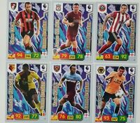 2019/20 PANINI EPL Soccer Cards - Set of 6 Game Breaker cards