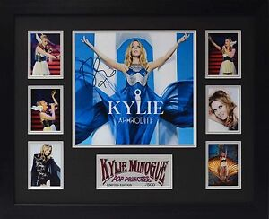 Kylie Minogue Limited Edition Framed Signed Memorabilia