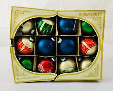 Vintage Shiny Brite Set of 12 Ornaments! Christmas Tree Angles Snow Bulbs