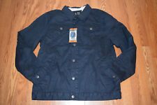 eb4bd3d37c0 NWT Mens INDIGO STAR Navy Sherpa Lined Button Up Denim Jacket 2XL