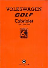 Volkswagen Golf Mk 1 Cabriolet 1100 1500 1600 sales brochure Italian market 1979