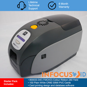 Zebra ZXP Series 3 Single Sided ID Card Printer With Starter Pack And Support