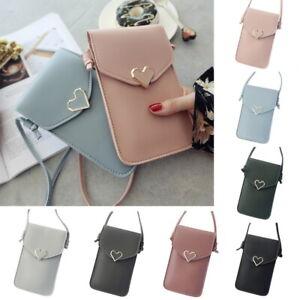 Women Cross-body Shoulder Bag Handbag Touch Screen Phone Pouch Bag Purse Wallet