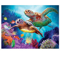 5D Full Drill Diamond Painting Cross Stitch Kits Embroidery Two Turtle Art Decor
