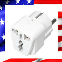 Adaptateur Universel Secteur US/UK/Chine vers Europe / France - Prise Blanche