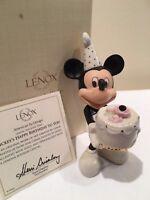 Lenox Disney MICKEYS HAPPY BIRTHDAY TO YOU FEBRUARY Amethyst Figurine